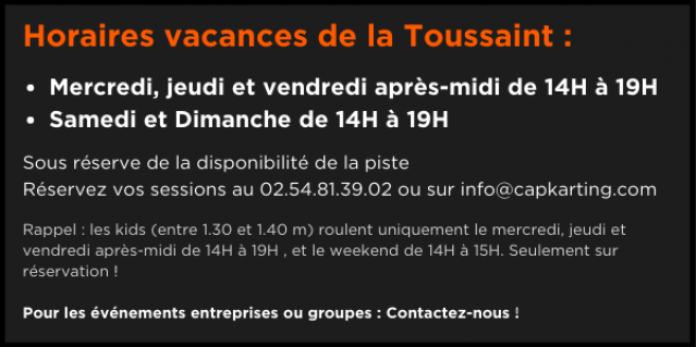 Horaires vacances de la Toussaint